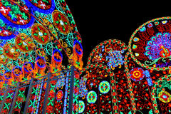 Lights decoration in Bangkok Light of Happiness Festival Royalty Free Stock Images