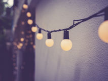 Lights decoration Event Festival outdoor Vintage tone Stock Photography