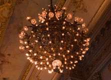 Lights and decorations inside Teatro Colon in Buen Stock Images