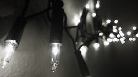 Lights. Detail on lightbulbs in black and white Royalty Free Stock Images
