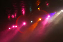 Lights in disco club. Lights in a disco club Royalty Free Stock Photography