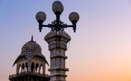 Lights and domes Albet hall jaipur Stock Photo