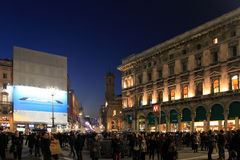 Lights in Duomo Square during Christmas holidays, Milano Stock Photography