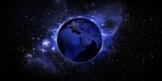 Lights on Earth stock image