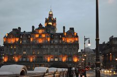 Lights of Edinburgh Stock Photography