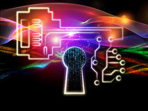 Lights of Encryption Stock Image