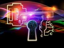 Lights of Encryption Stock Image
