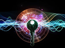 Lights of Encryption Stock Photography