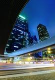 Lights of evening traffic Stock Image