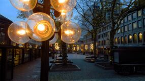 Lights at Faneuil Hall Marketplace Royalty Free Stock Photos