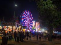 Lights of Ferris Wheel Stock Photo