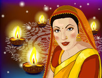 Lights festival of Diwali stock illustration