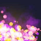 Lights on festive cosmos bokeh background Stock Images