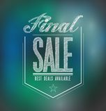 Lights final sale poster sign banner Stock Images