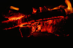 Lights fire flames in the night Stock Image