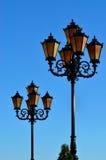 Lights of the Fishing village. Kaliningrad, Russia Stock Image