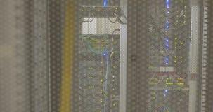 Lights flashing on servers