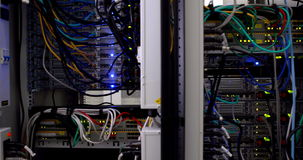 Lights flashing on servers stock video footage
