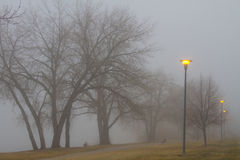 Lights and Fog Setting the Mood Stock Photos