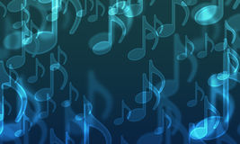 Lights in the form of musical symbols stock illustration