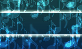 Lights in the form of musical symbols vector illustration