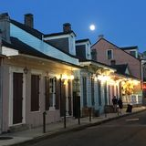 Full moon over New Orleans royalty free stock photo