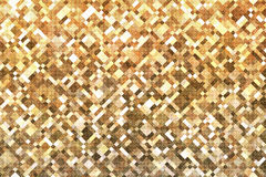 Lights gold square pixel mosaic background Stock Photography