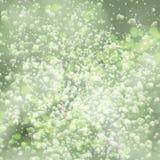 Lights on green background bokeh effect. Vector EPS 10 stock illustration