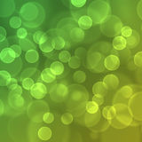Lights on green background. Stock Image