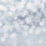 Lights on grey background, sparkles. Stock Photo