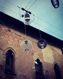 Street lights in Treviso, Italy royalty free stock photo