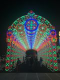 Lights of happiness. Festival in Bangkok, Thailand royalty free stock photo