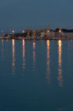 Lights by harbor Royalty Free Stock Photography