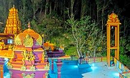The lights of Hindu Temple in Seetha Eliya Stock Photography