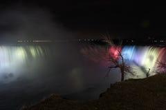 Lights on Horseshoe Falls Stock Image