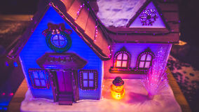Lights and house decoration in blue Stock Photos