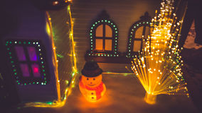 Lights and house decoration Stock Photos