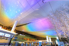 Lights and illuminations at Haneda Airport Stock Photo