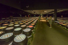Lights inside Corea Republic Pavilion, EXPO 2015 Milan Royalty Free Stock Image