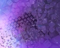 Lights Keyboard Cold Abstract. Keyboard computer buttons cold color light spectrum fantasy abstract purple 3d illustration, horizontal vector illustration