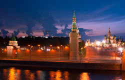 The lights of Kremlin Royalty Free Stock Photography