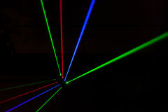 Lights Laser, lights On Stage Royalty Free Stock Photos