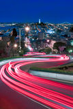 Lights of Lombard, SF, Ca Royalty Free Stock Photo