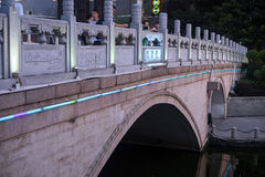Lights of Longjin Bridge Stock Photography