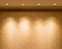 Lights on the  luxury wall. Stock Photos