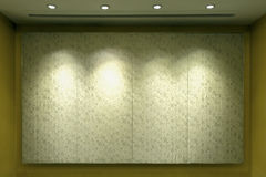 Lights on the luxury  wall. Royalty Free Stock Images