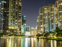 Lights of Miami Royalty Free Stock Photography