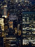 Lights of modern city skyscrapers at night. Lights modern city skyscrapers at night stock photo