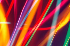 Lights. Motion blurred Christmas tree fairy lights stock image
