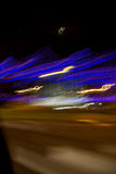 Lights moving. Moving abstract lights from inside a car Stock Photos